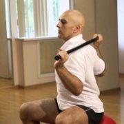 упражнения с палкой при шейном остеохондрозе
